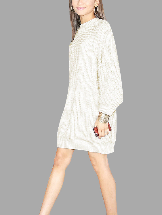 White Dolman Sleeve Loose Jumper