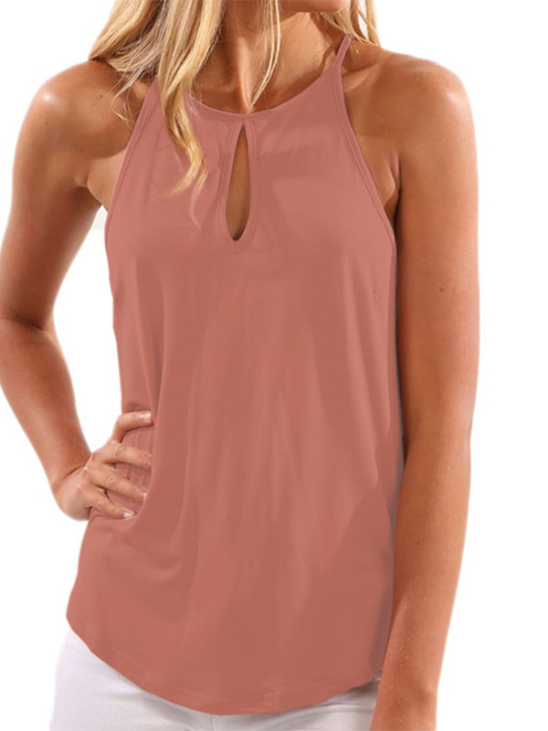 Rose Design Chest Cut Out Top