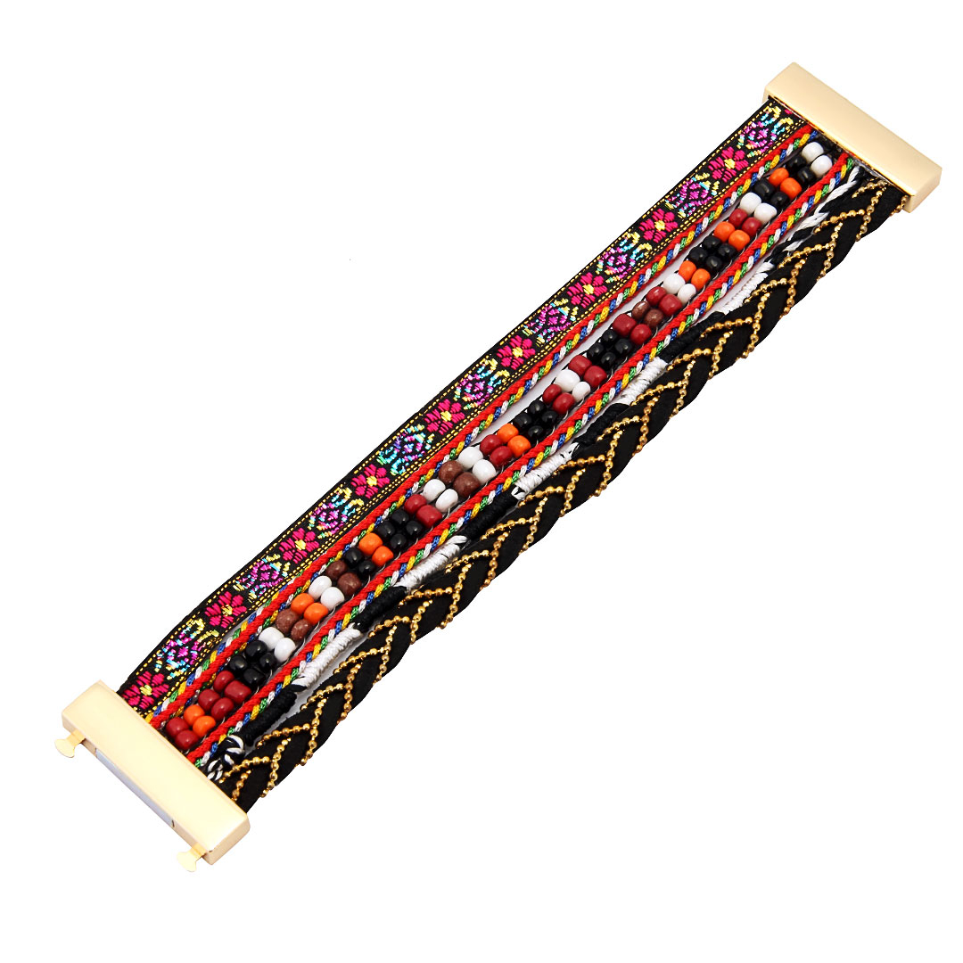 Double Hand Beadeds and Woven Magnetic Bracelet