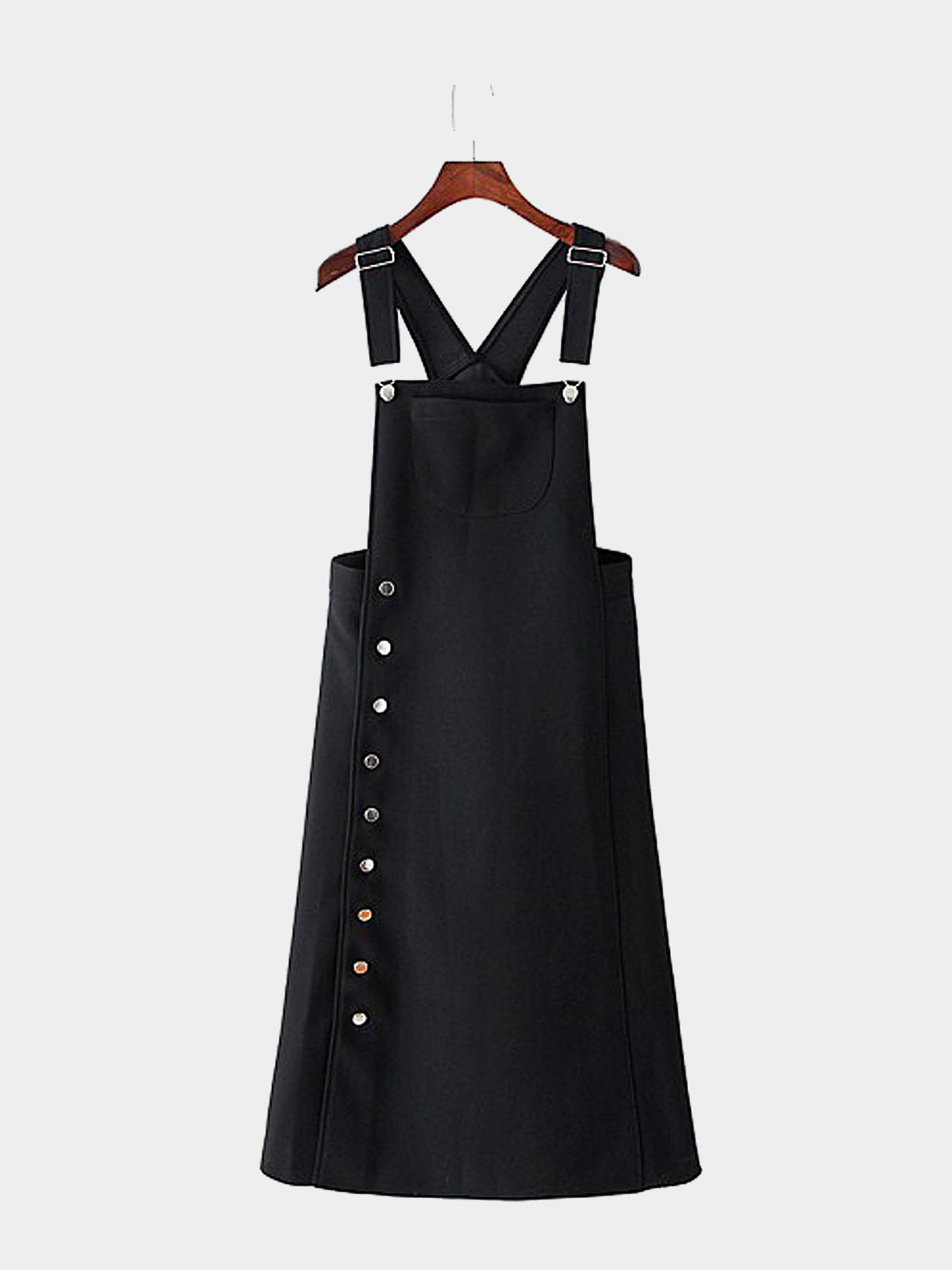 Overall Dress with Side Button