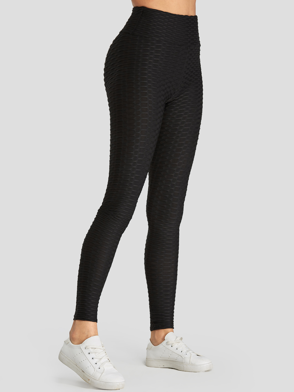 Black Plain Breathable Sweat-absorbing Buttock Lifting Pants