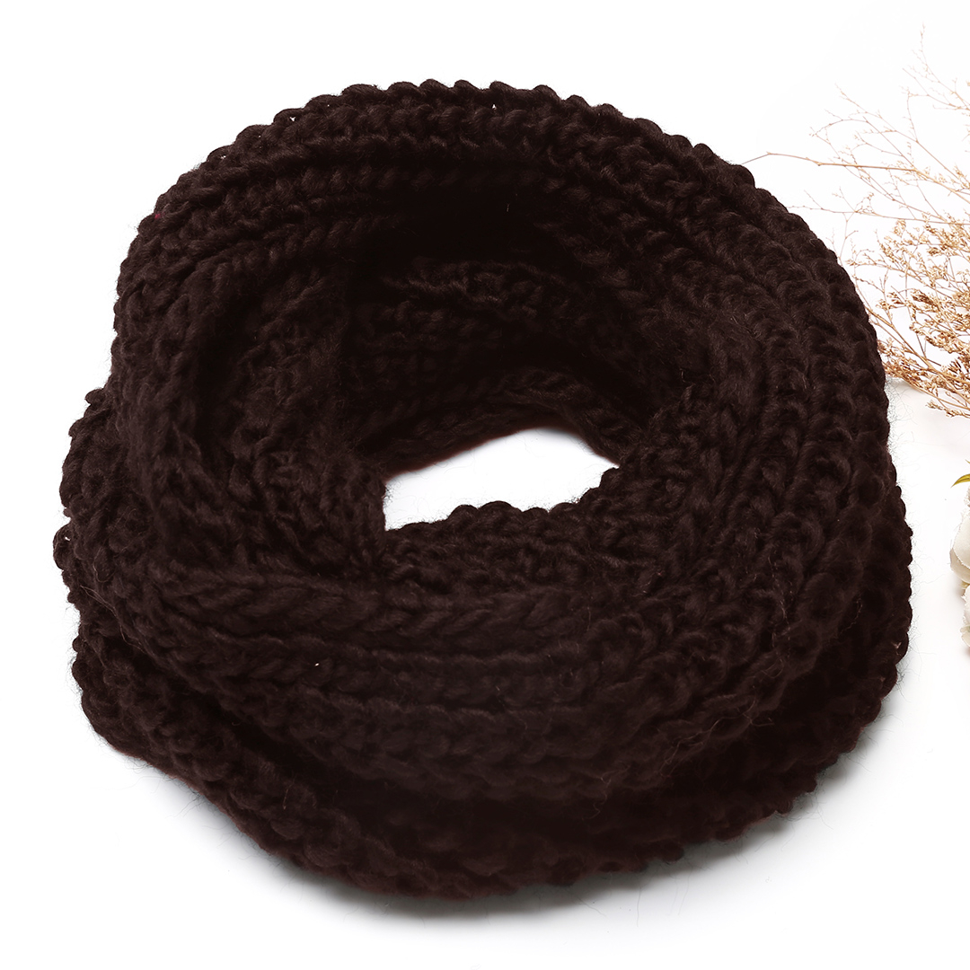 Coffee Cosy Knitted Infinity scarf
