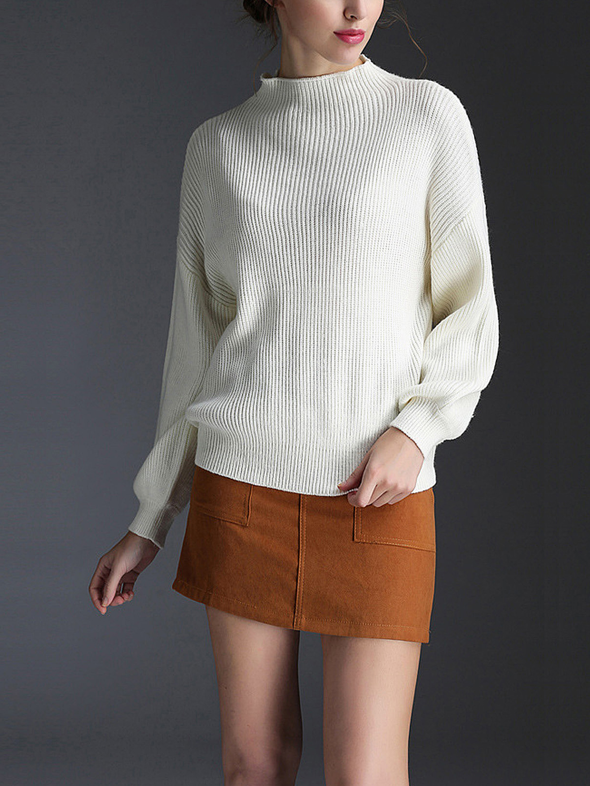 91c029ed4 High Neck Sweater   Mini Skirt Two-Piece Co-ords - US 44.95 -YOINS