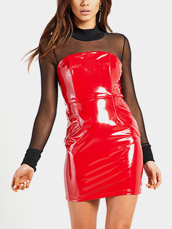Red Off The Shoulder Bodycon Mini Dresses