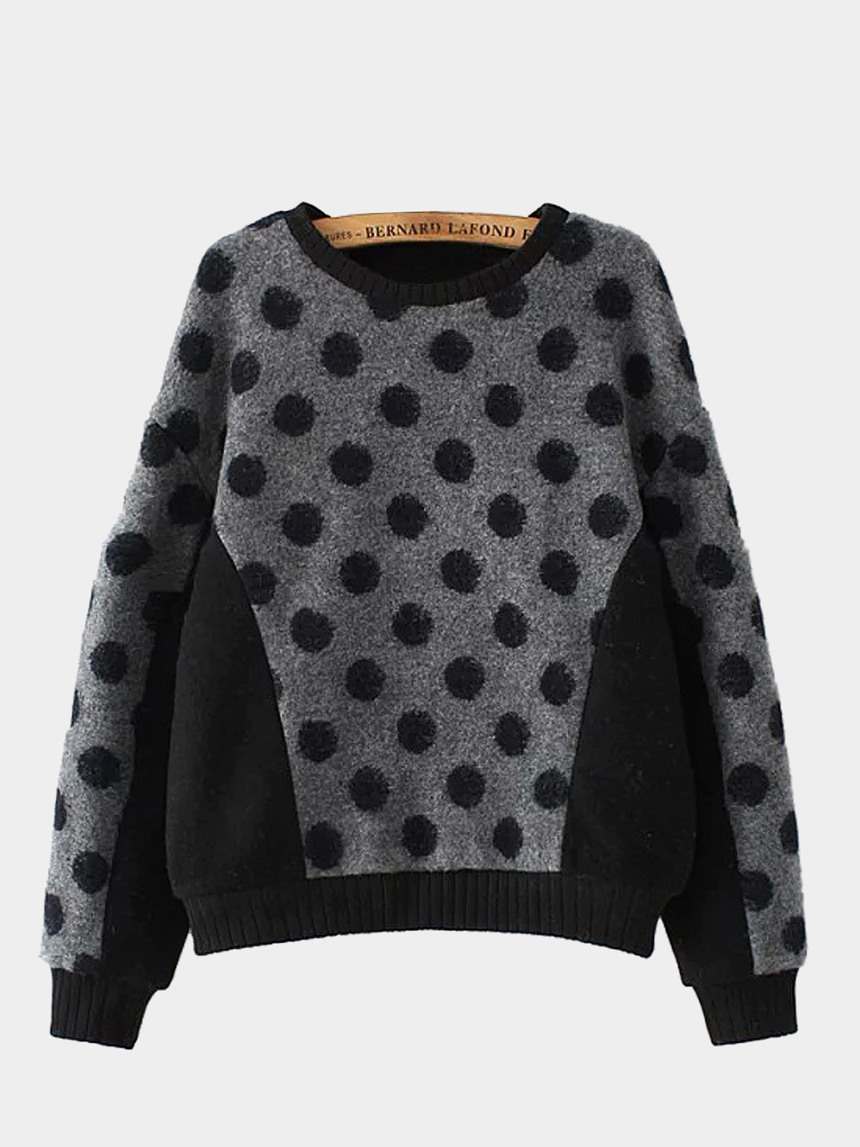 Color Block Dot Long Sleeve Sweatshirt
