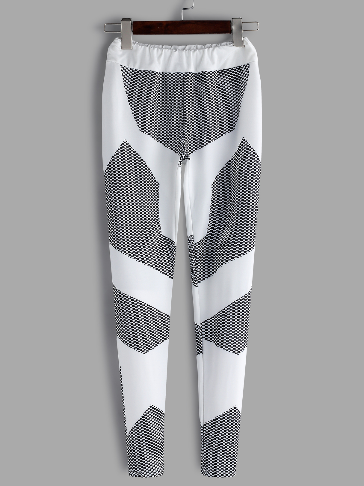 Active Printed Design  Bodycon Fit Gym Leggings in White