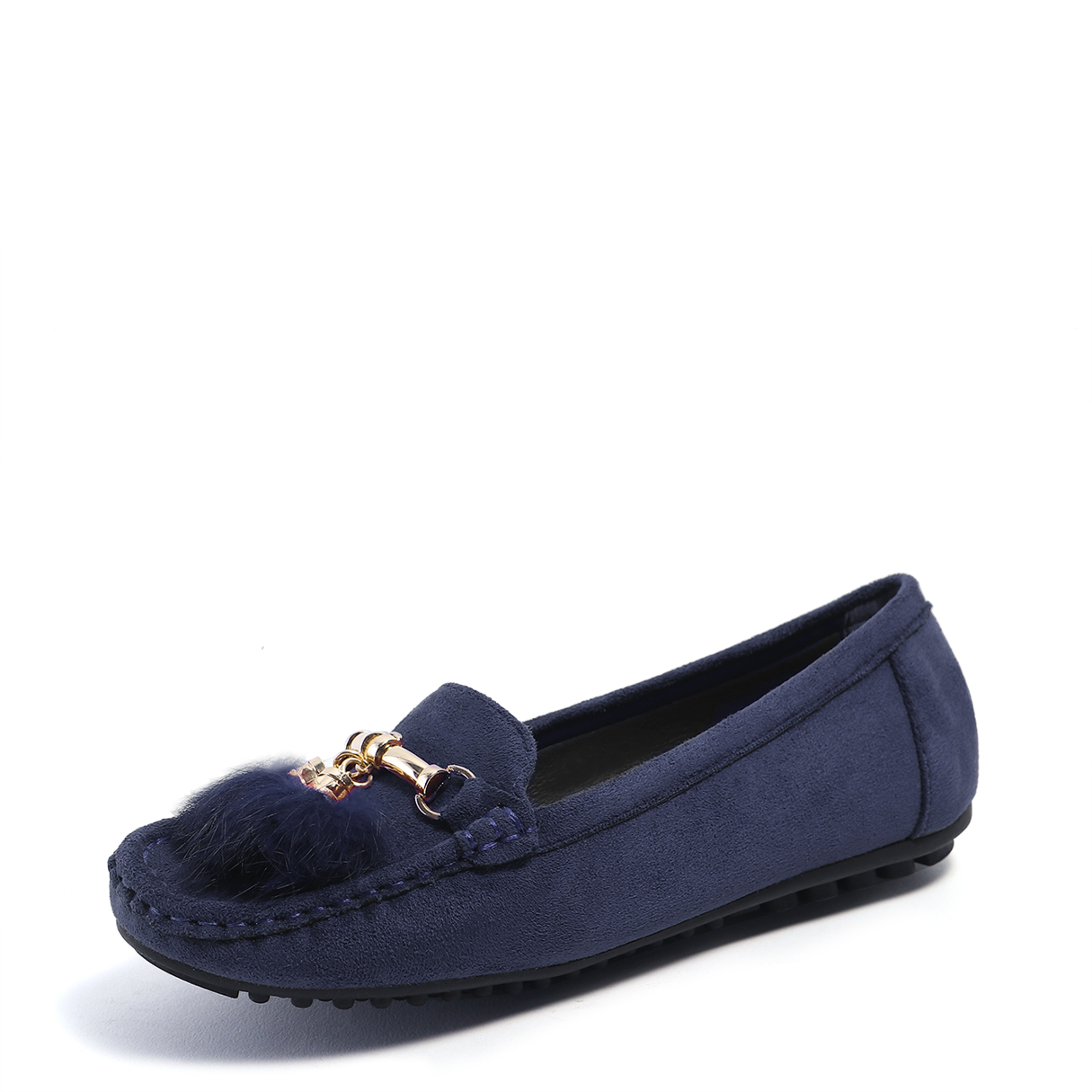 Royal Fur Decoration Slip-on Casual Flats